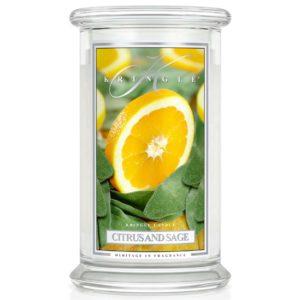 Kringle Candle Citrus & Sage Classic Jar Large