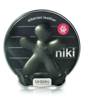 Niki Frosted Charcoal Siberian Leather