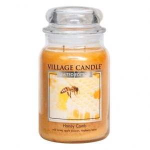 Village_Candle_honey_comb_L_svijeca_jar
