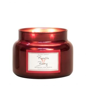 Village_Candle_rosette_berry_metalic_S_svijeca_jar