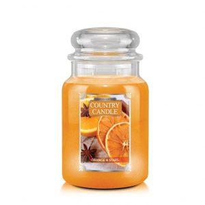 Country_candle_L_orange_stars_svijeca